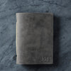 Personalized Leather Pocket Notebook Journal - Rustic Gray - Ox & Pine