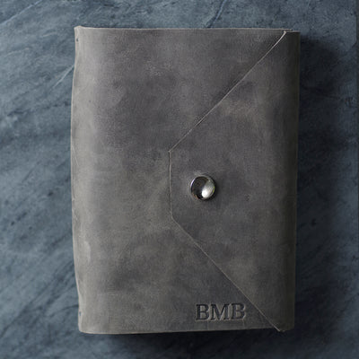 Refillable Leather Journal w/ Snap