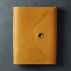 Personalized Leather Snap Journal - Saddle Tan - Ox & Pine