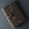 Personalized Refillable Wrap Leather Journal - Rustic Brown - Ox & Pine