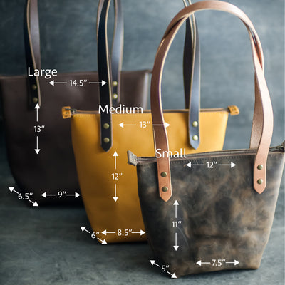 Personalized Leather Strap Closure Tote Bag