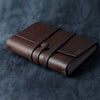 Personalized Refillable Wrap Leather Journal - Dark Brown - Ox & Pine