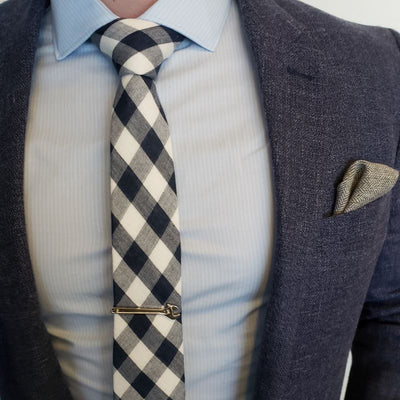 Tie - Checkered Charcoal Tie