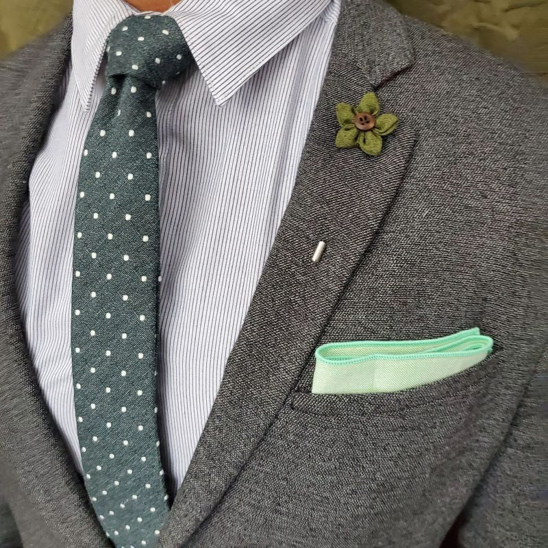 Solid Pastel Lime Pocket Square