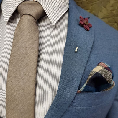 Tie Set - Solid Brown Tie Set
