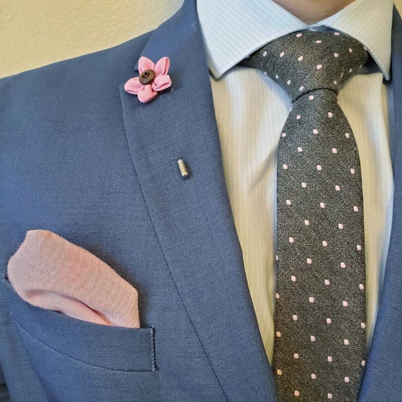 Tie Set - Polka Dot Dark Grey Tie Set