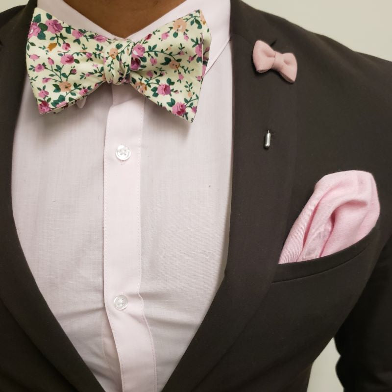 Bow Tie - Floral Ivy Rose Bow Tie