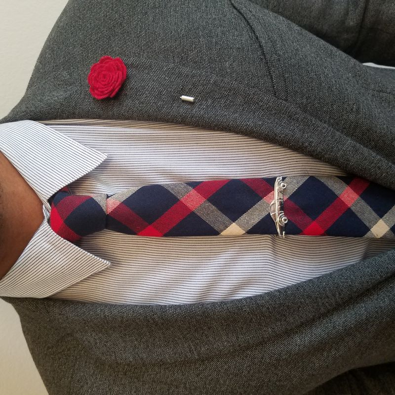 Plaid Navy Tommy Tie