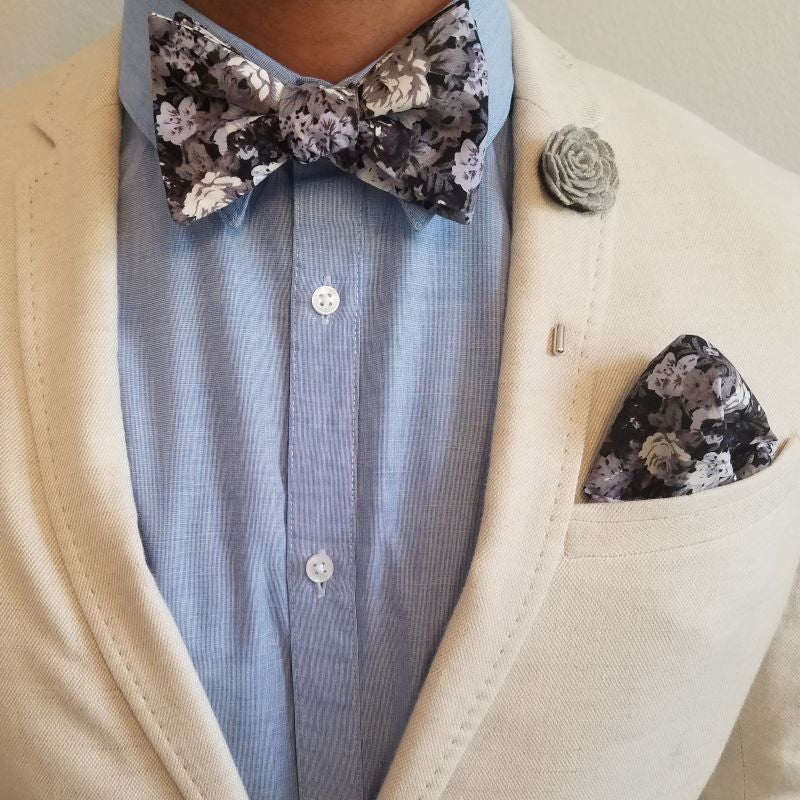 Bow Tie Set - Floral Great Owl Bow Tie Set