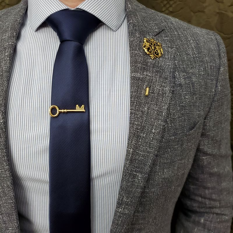 Key Gold Tie Bar