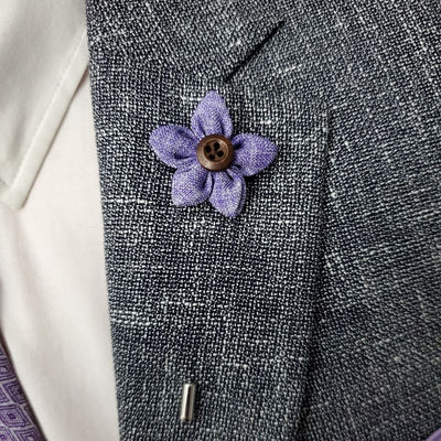 Lapel Pin - Wildflower Lilac