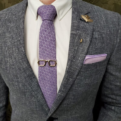 Purple pocket square
