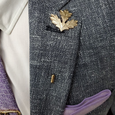 Bronze Maple Lapel Pin