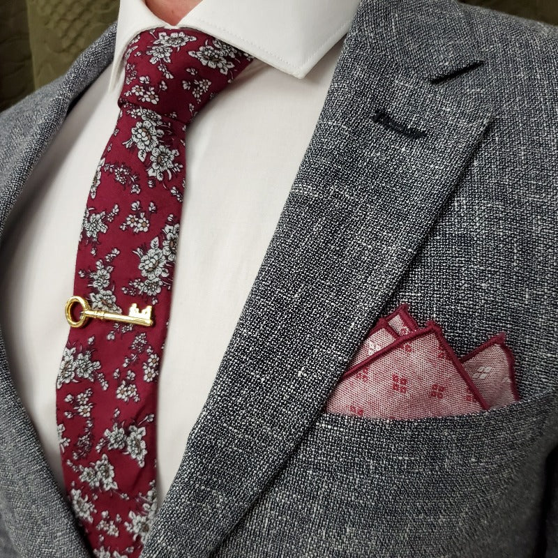 Diamonds Burgundy Pocket Square