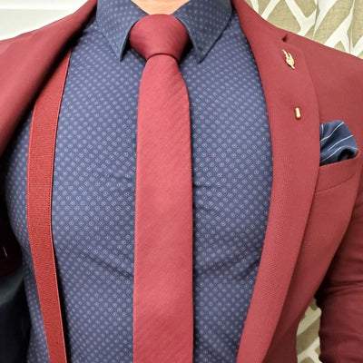 Striped Burgundy Tie