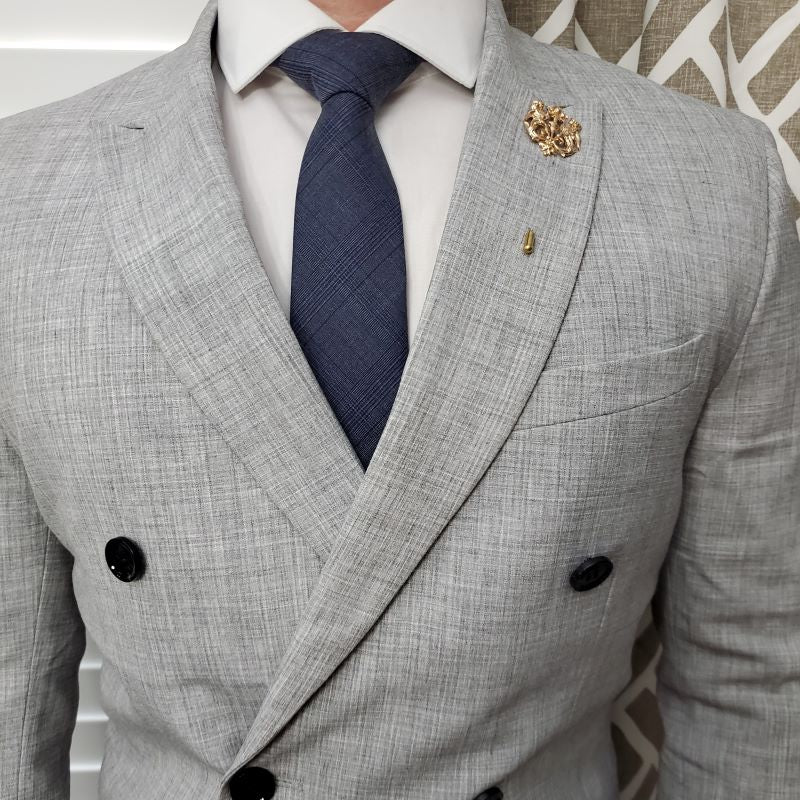 Plaid Sprezzatura Blue Tie