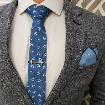 Anchor Blue Ocean Tie Set