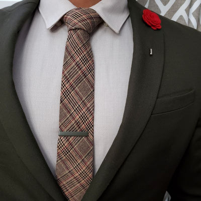 Plaid Brown Tie'