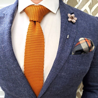 Burnt Orange Knit Tie