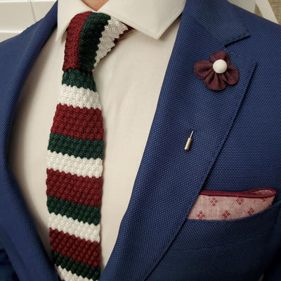 Knitted Grandpa Tie Set