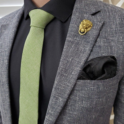 Floral Midnight Pocket Square