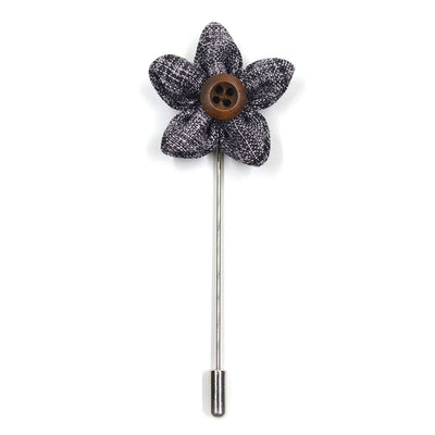 Lapel Pin - Wildflower Salt N Pepper