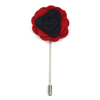 Lapel Pin - Floral Black Cherry