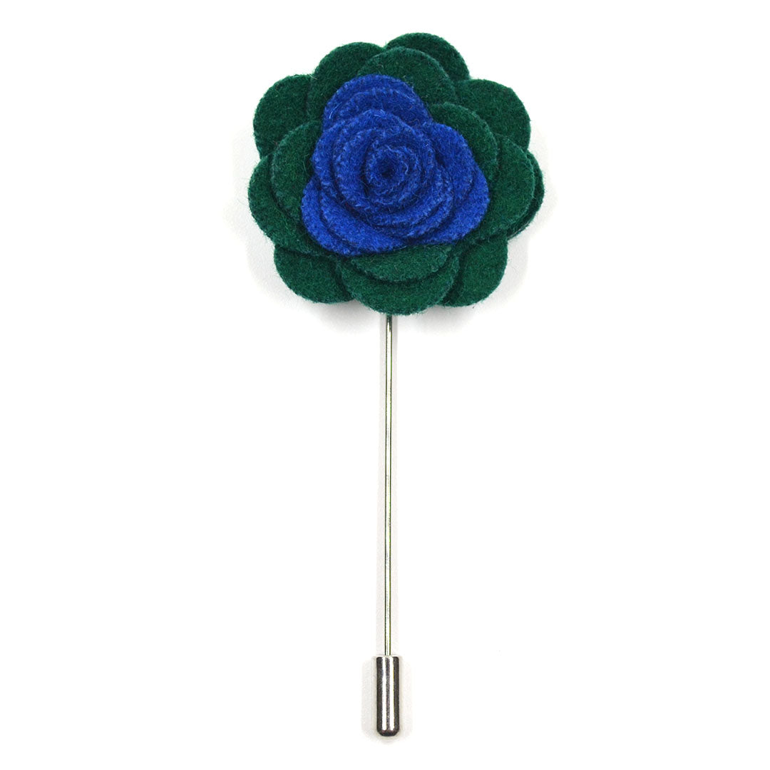 Lapel Pin - Floral Blueberry Juniper