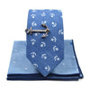 Anchors Blue Ocean Tie Set