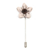 Lapel Pin - Wildflower Ivory
