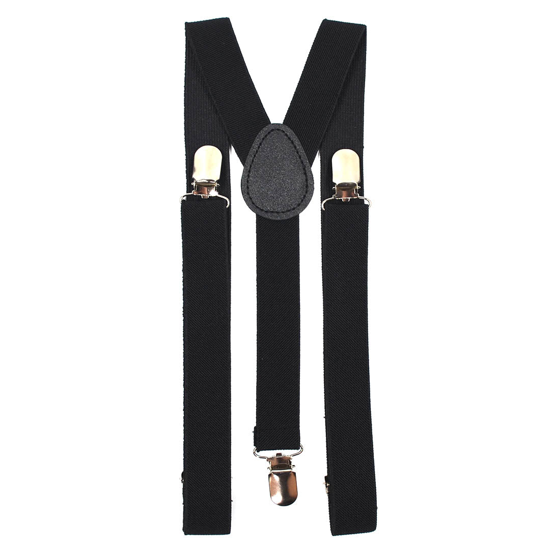 Solid Black Suspenders