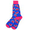 Blue Watermelon Men's Socks