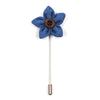 Lapel Pin - Wildflower Carolina Blue Lapel Pin