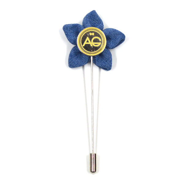 Lapel Pin - Wildflower Carolina Blue