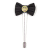 Lapel Pin - Bow Tie Black Striped
