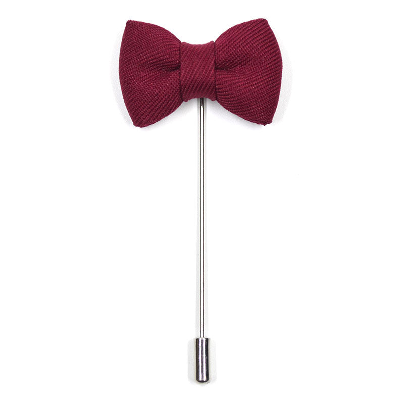 Bow Tie Burgundy Lapel Pin
