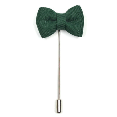 Lapel Pin - Bow Tie Green