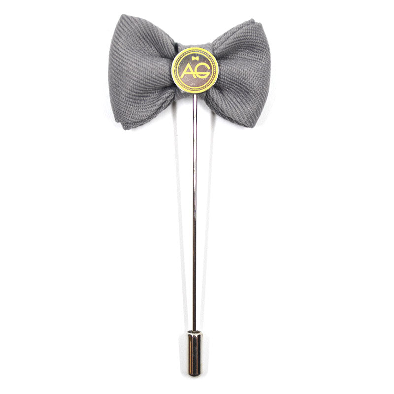 Lapel Pin - Bow Tie Grey