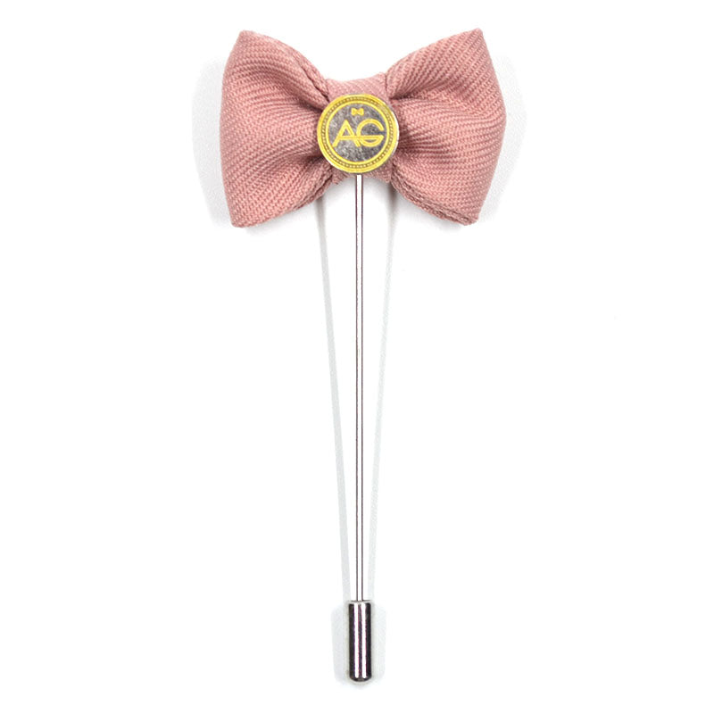 Lapel Pin - Bow Tie Pink