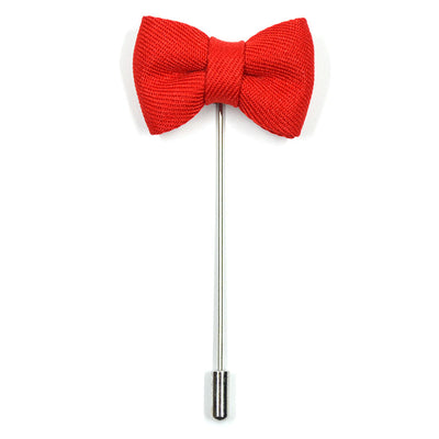 Lapel Pin - Bow Tie Red