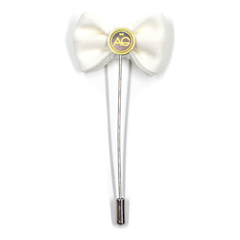 Lapel Pin - Bow Tie White
