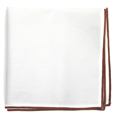 Brown Border Pocket Square