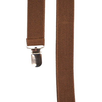 Solid Brown Suspenders