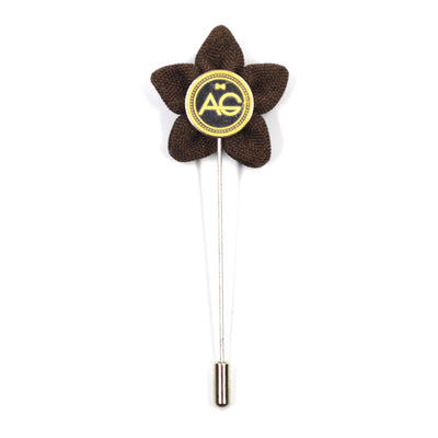 Lapel Pin - Wildflower Walnut