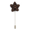 Lapel Pin - Wildflower Brown