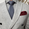 Herringbone Burgundy Pocket Square