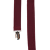 Solid Burgundy Suspenders
