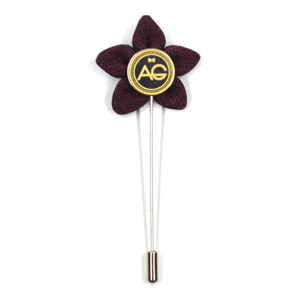 Lapel Pin - Wildflower Burgundy