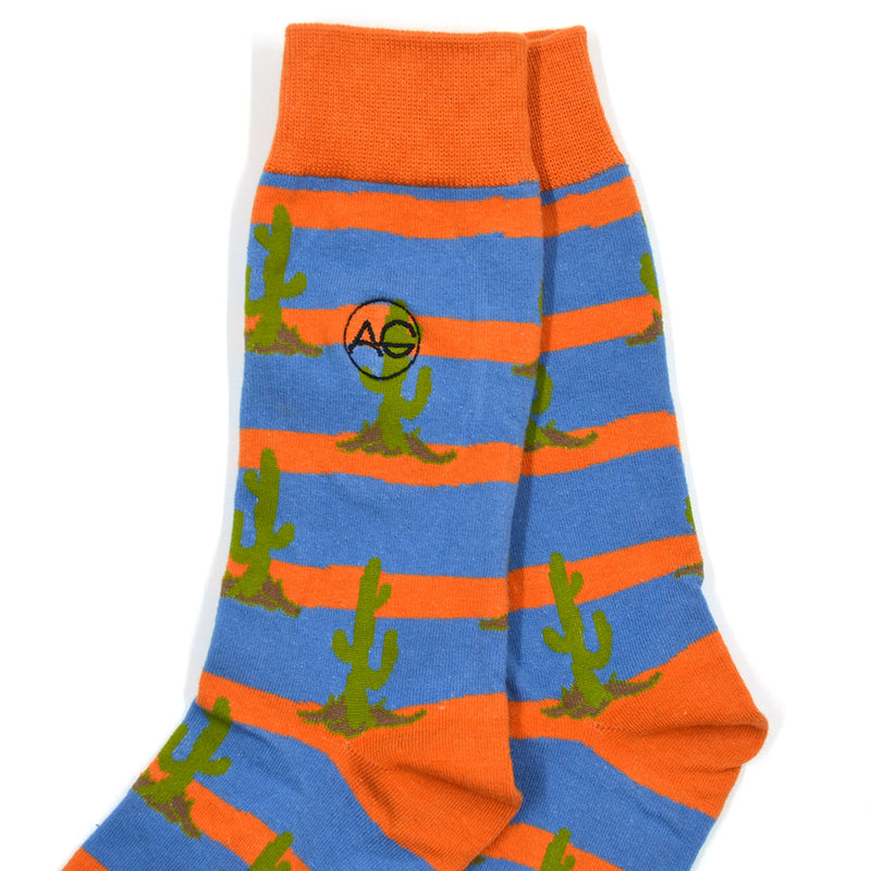 Cactus Striped Men's Socks