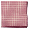 Checkered Maroon Pocket Square